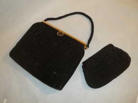 17975177070d0 296  1950 s Vintage Delill Beaded Handbag   Clutch
