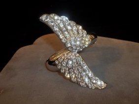 Rhinestone Wings Bracelet