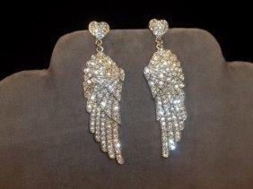 3: Rhinestone Wings Earrings
