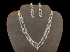 10: Rhinestone Necklace & Earrings