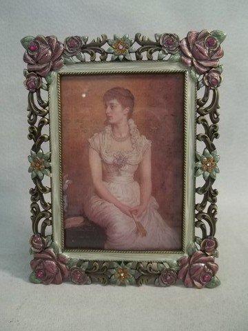 21: Enameled Jeweled Picture Frame