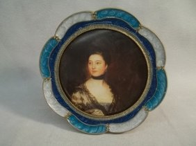 22: Enameled Jeweled Picture Frame