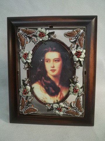 23: Enameled Jeweled Butterfly Picture Frame