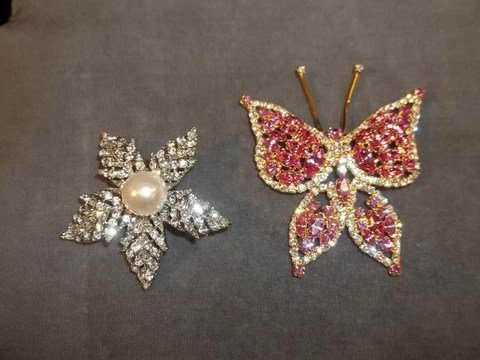 5: Butterfly & Flower Brooch
