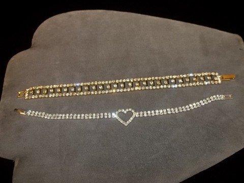 8: 2 Rhinestone Tennis Bracelets