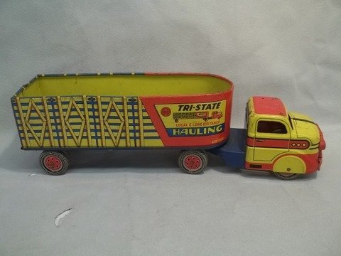 """198: 18"""" MARX Tri State Hauling Toy Truck 1950s"""
