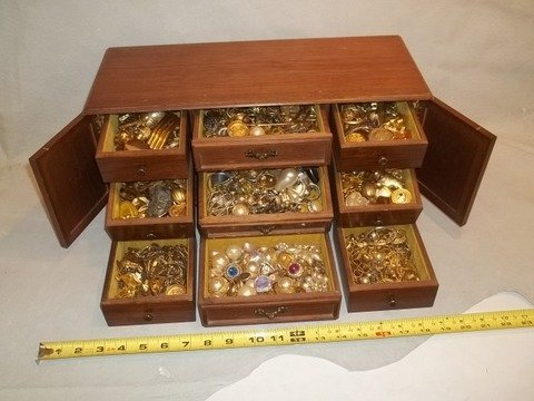 220: Massive Jewelry Box FULL of ESTATE JEWELRY!!