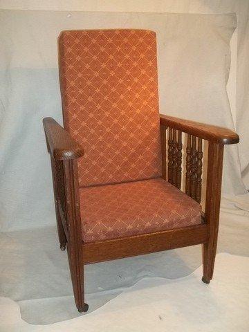 1: Childs Oak Quarter Sawed Morse Chair