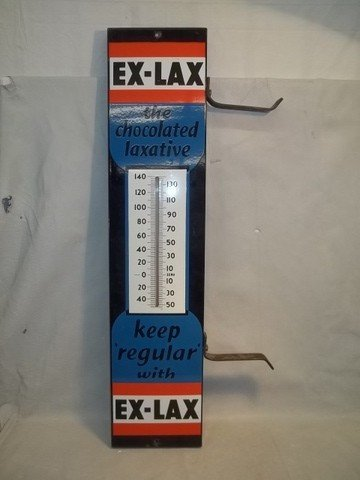 2: Old Porcelain Ex-Lax Advertising Sign NICE