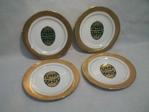 "3: 4 Muirfield Magnificence Fabrige Egg Plates 8.5"""
