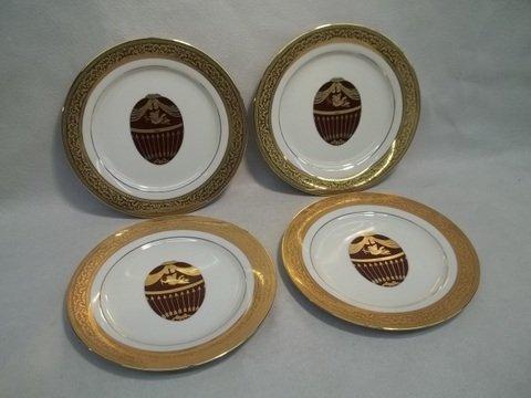 "4: 4 Muirfield Magnificence Fabrige Egg Plates 8.5"""