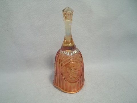 8: Edward Muhleman Carnival Glass Bell 7 Inch
