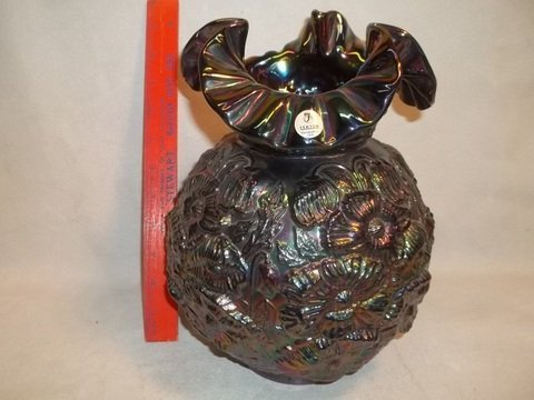 3A: Carnival Fenton Lamp Shade Only 200 MADE! Amethyst
