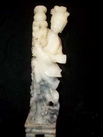 6A: Oriental Carved Soapstone Statue