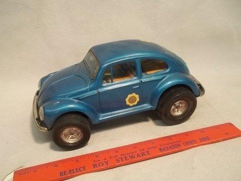 7: Aoshin Japan Tin Volkswagen Vintage Toy Beetle