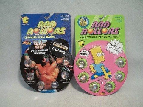 8: 1990 Rad Rollers Simpsons & WWF Lot MOC