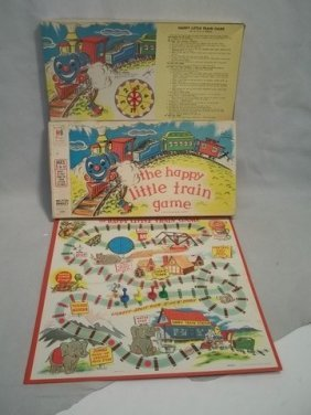 13: Rare 1957 MB The Happy Little Train Game Complete