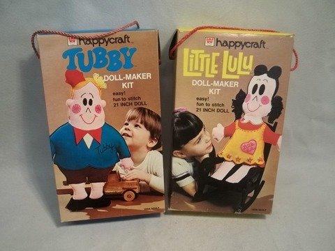 14: 1973 Vintage Little Lulu Tubby Doll Kits MIB