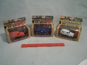 16: 3 Die Cast Trucks MISB Pepsi Sunkist Coast Guard