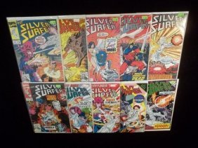17: 10 Silver Surfer Comic Books VF-NM