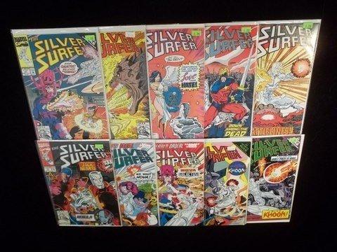 17: 10 Silver Surfer Comic Books VF-NM