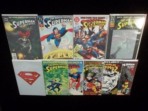 20: 10 Superman Comic Books 1990s VF-NM