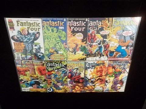 21: 10 Fantastic Four Comic Books VF-NM