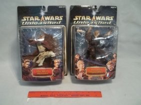 22: 2 2003 Star Wars Unleashed Figures MOC