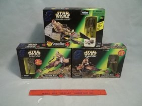 24: 3 96-97 Star Wars Speeder Bikes MIB