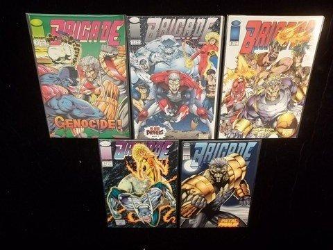 154: 5 Brigade comic Books #0-4 NM-M