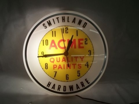 255: Old Acme Paints Hardware Store Clock