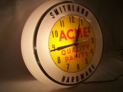 255: Old Acme Paints Hardware Store Clock - 2
