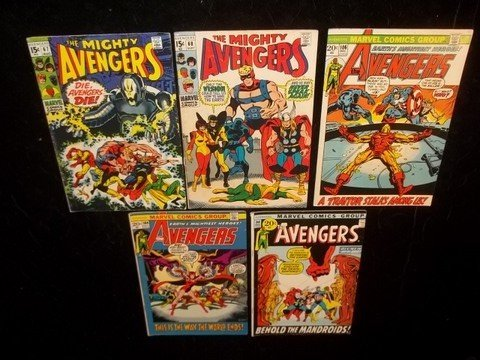 344: 1960s 70s The Avengers Comic Books