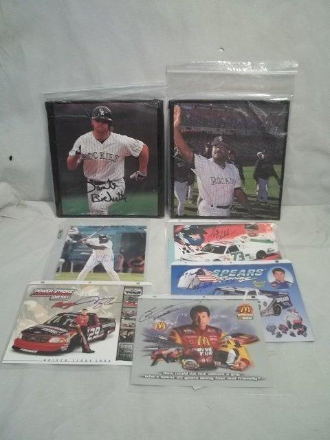 2: Autographed Baseball & Racing Lot Bichette, Baylor m