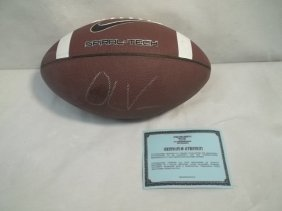4: Oliver Vernon Autographed Fotball with COA