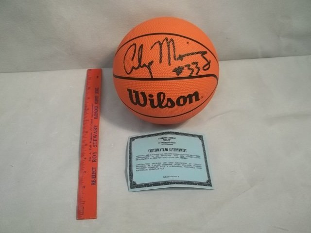6: Alonzo Mourning Autographed Mini Ball w/COA