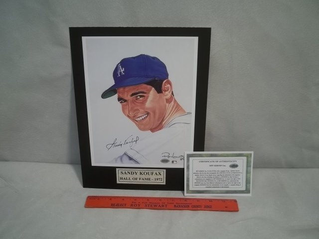 23: Sandy Koufax Autographed Photo w/COA