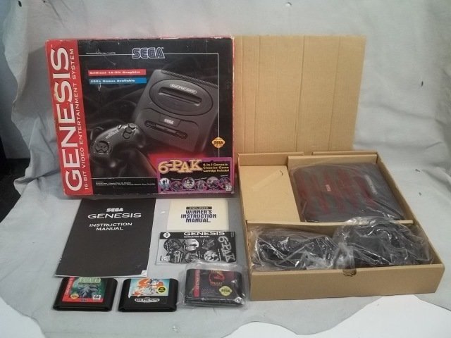 56: Vintage Sega Genesis Game System in Box w/Acces.