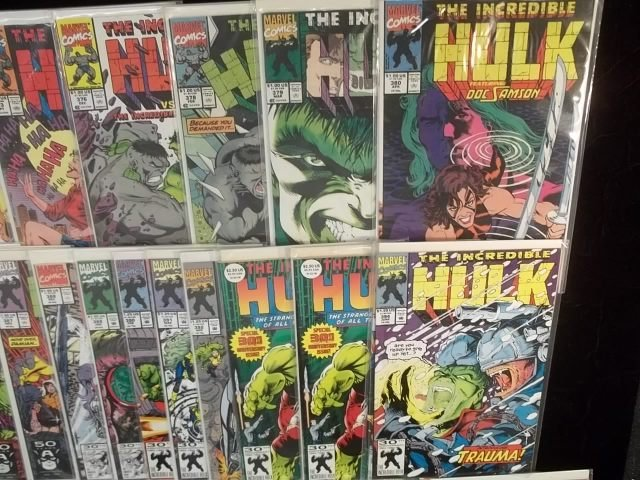 171: Huge Lot of 51 Hulk Comic Books Coll. #360-up VF+ - 3