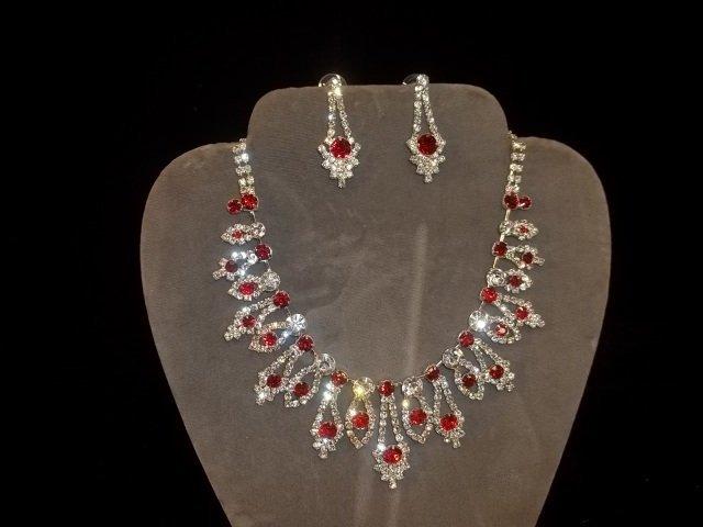 6: Rhinestone Necklace & Earrings