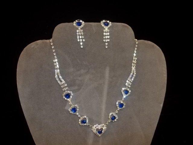9: Rhinestone Necklace & Earrings