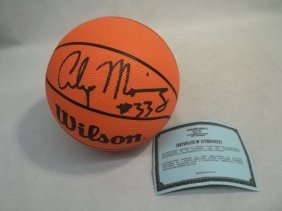 Alonzo Mourning Autograph Mini Ball With COA