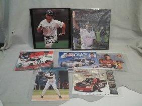 Autograph Baseball Nascar Lot W COAs