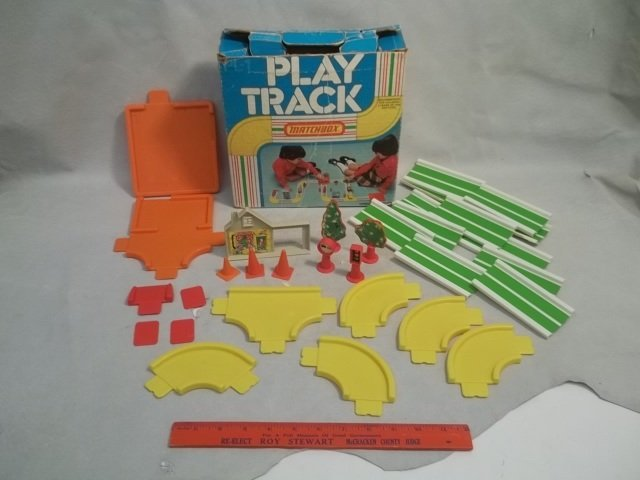 Vintage Matchbox Play Track In Box