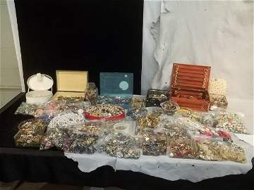 Massive Huge Estate Jewelry & More Lot w Vintage