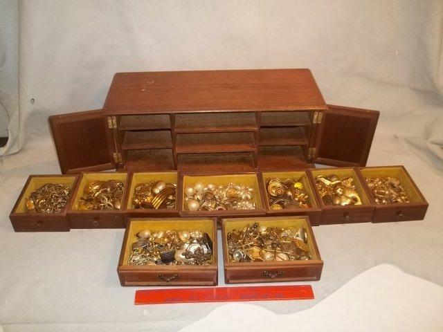 Huge Estate Jewelry Box FULL of Jewelry w Vintage