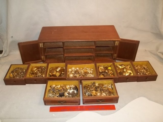 Huge Estate Jewelry Box FULL of Jewelry w Vintage