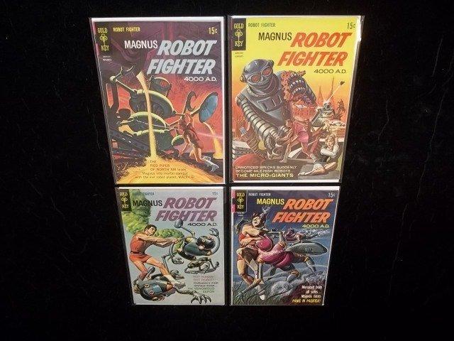 4 1960s Magnus Robot Fighter Comic Books VF+ 24-27