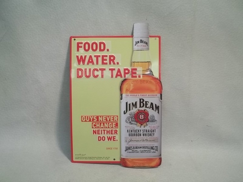 Metal Jim Beam Whisky Sign