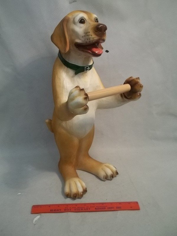 Yellow Lab Toilet Paper Holder